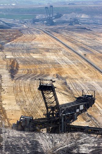 Fotobehang Lavendel A large bucket wheel excavator in a brown-coal mine