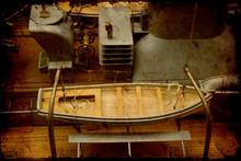 Retroplakat - Rettungsboot