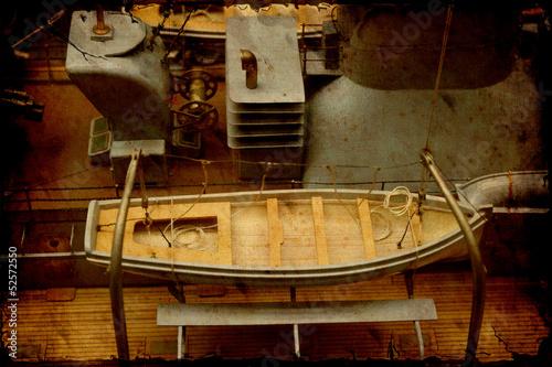 Photo  Retroplakat - Rettungsboot