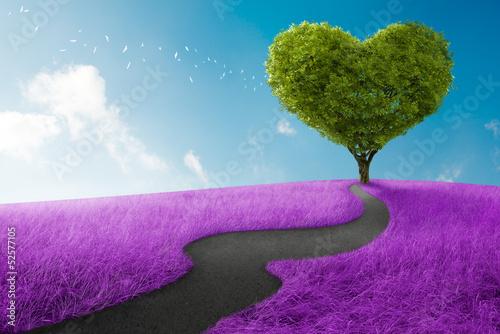 Obraz Droga do miłości, abstrakcja - fototapety do salonu