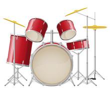 Drum Set Vector Illustration