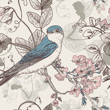 The Wallpaper In Vintage Style