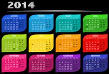 Calendrier Annuel 2014 Vectori...