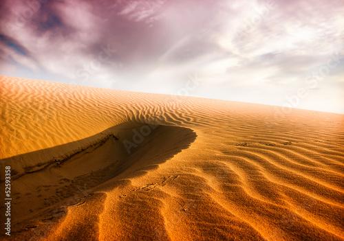 Fototapeta na wymiar sand desert,sunset