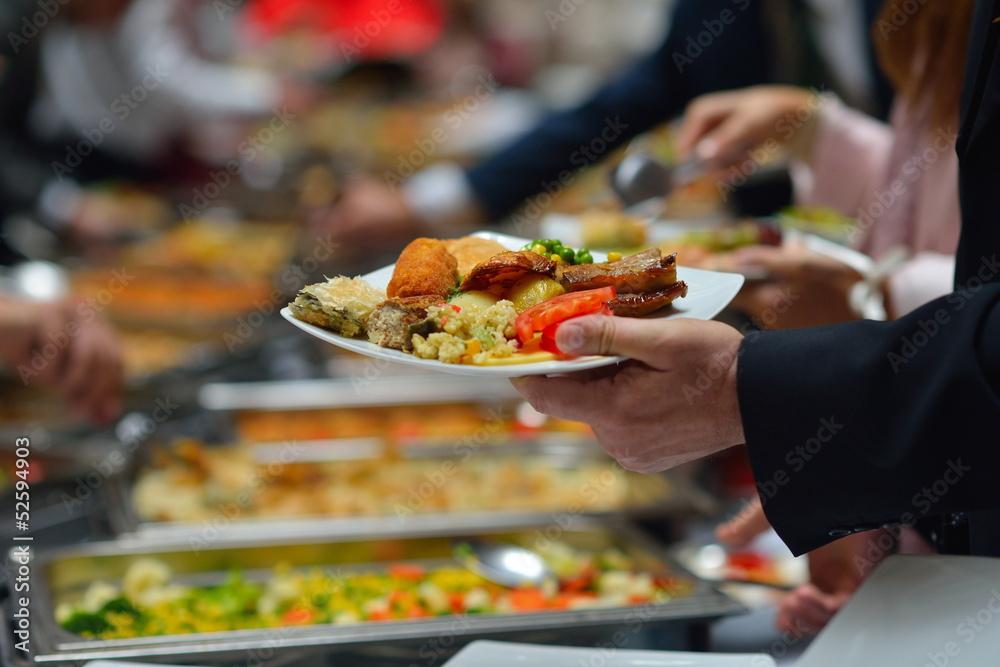 Fototapety, obrazy: buffet food