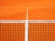 canvas print picture - Tennisplatz mit Linie und Netz 119