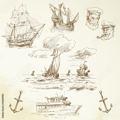 In de dag Schip nautical elements