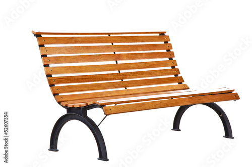 Beautiful bench separately on a white background Canvas Print