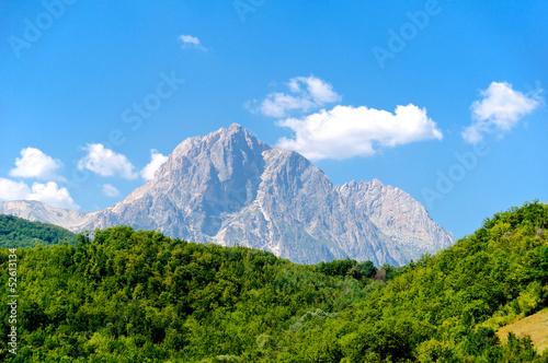 Fotografia Corno Grande, Gran Sasso panoramic view L'Aquila, Italy
