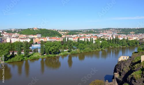 Fototapeta View from Vysehrad fortress on the river Vltava obraz na płótnie
