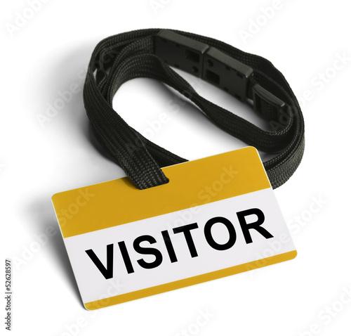 Fotografie, Obraz  Visitor Badge