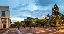 Panoramic View Of Town Square ...