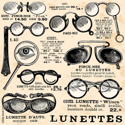 Poster Kranten Collection de Lunettes