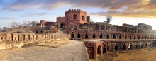 Ancient Ruins Of Fatehpur Sikri Fort, India.