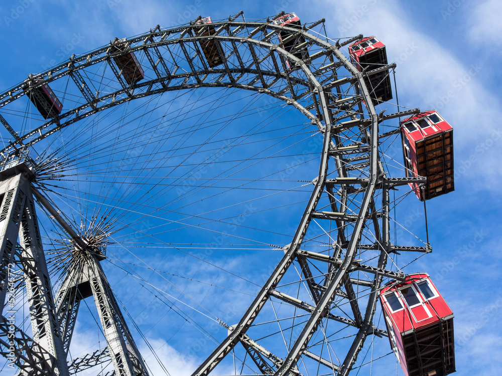 Fotografia, Obraz  austria, vienna, ferris wheel