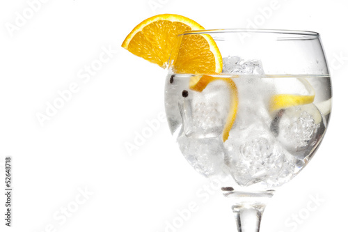 Photographie Gin tonic cocktail