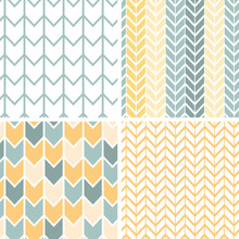 Vector Set Of Four Gray And Ye...