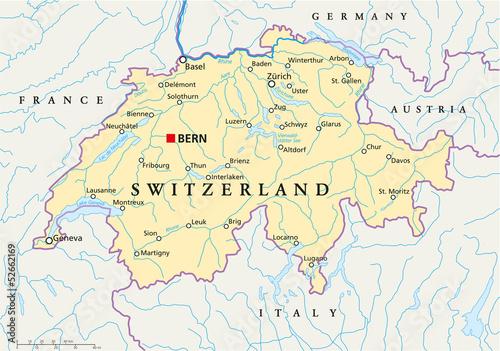 Switzerland Map Schweiz Landkarte Buy This Stock Vector And