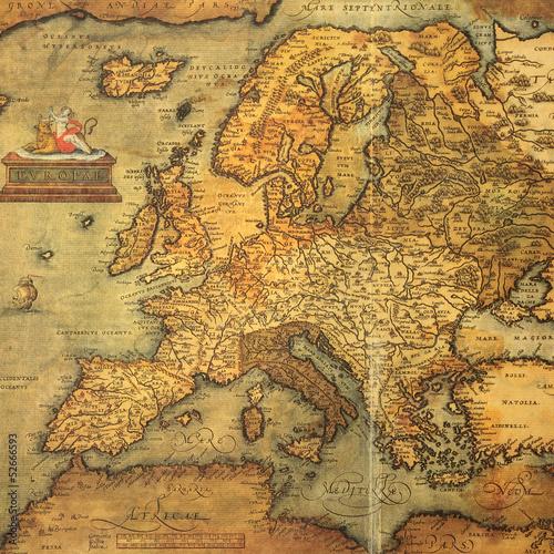 Obraz na płótnie reprodukcja XVI-wiecznej mapy