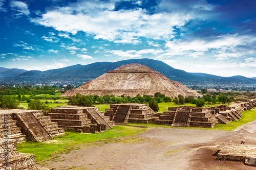 Photo sur Aluminium Mexique Pyramids of Mexico