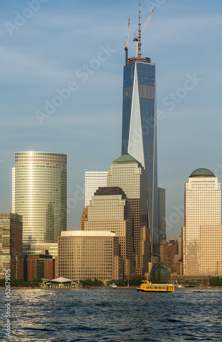 Fotografering  World Trade Center reaches final height in New York City