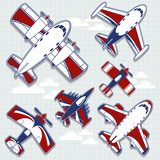 airplane vector collection
