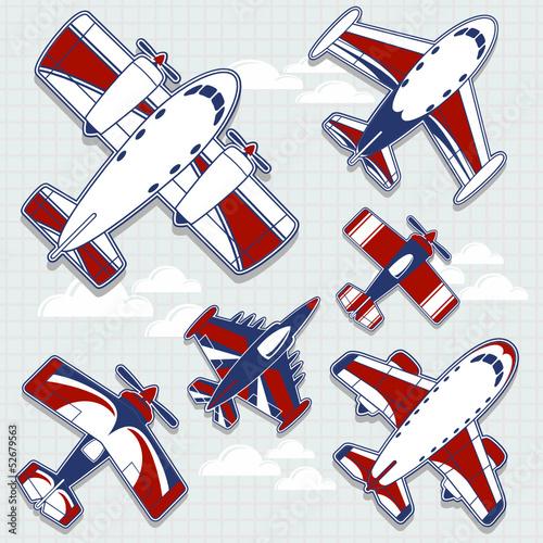 kolekcja-samolotow-wektorowych