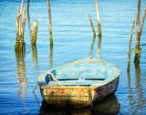 stara łódź wiosłowa - 52687707
