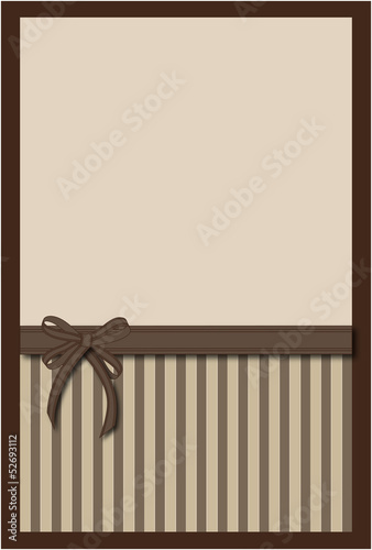 Fotografie, Obraz  Vector  background with bow
