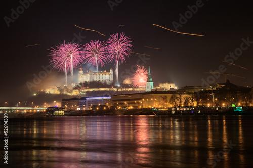 Photo  Fireworks over Bratisava