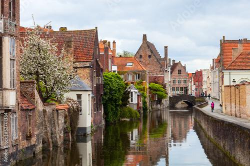 Deurstickers Brugge Bruges city in Belgium
