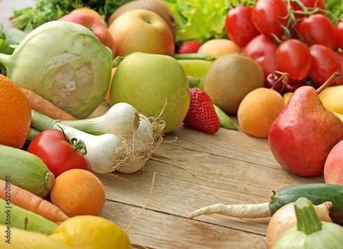 Fototapeta Fresh fruits and vegetables obraz na płótnie