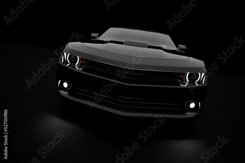 Fototapeta black sport car obraz na płótnie
