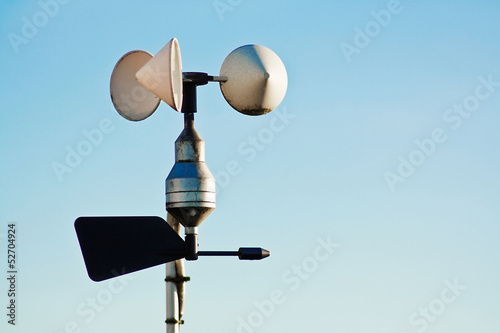 Anemometer on weather station Wallpaper Mural