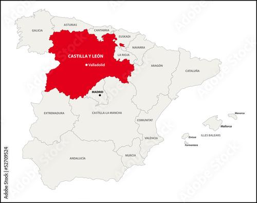 Autonome Regionen Spanien Karte.Autonome Region Kastilien Und Leon Spanien Kaufen Sie