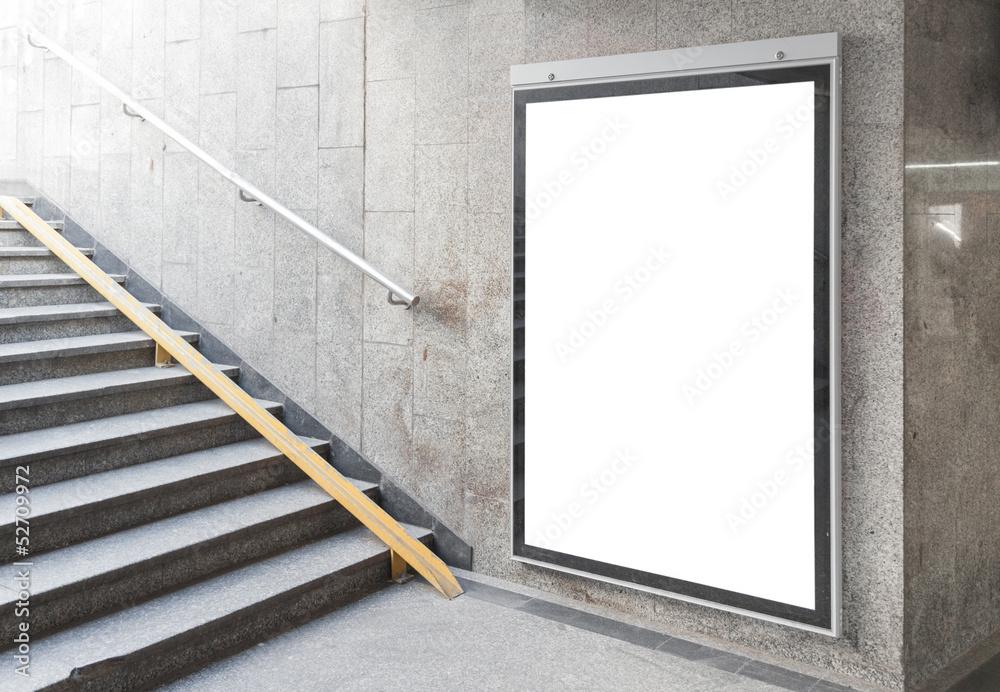 Fototapeta Blank billboard or poster in hall