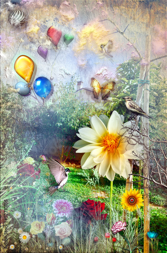 Garden Poster Imagination Garden of the paradise