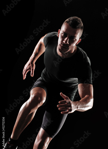 Photo Hombre atleta corredor ejercitando.corriendo