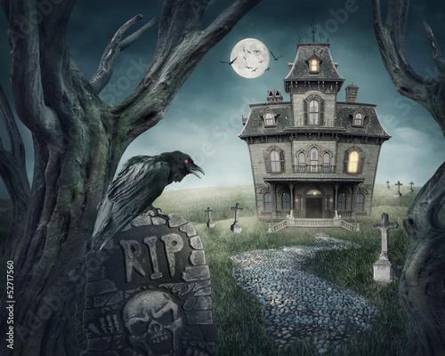 In de dag Volle maan Haunted house