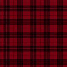 Red And Black Plaid Fabric Bac...