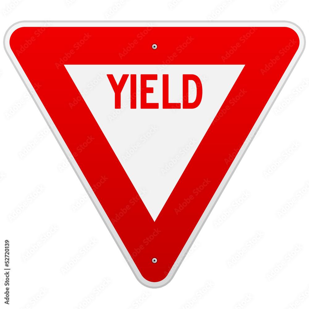 Fototapety, obrazy: USA Yield Sign