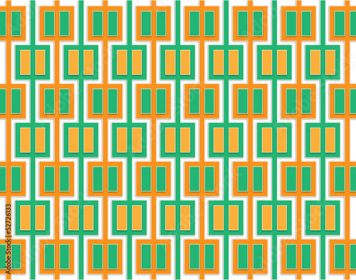 Fototapety, obrazy: Abstract pattern of orange and green squares