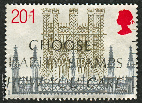 Poster  Postage stamp.