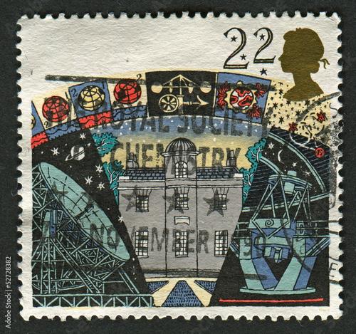Papiers peints Imagination Postage stamp.