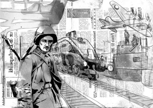 swiat-1905-1949-zolnierz-z-karabinem-maszynowym