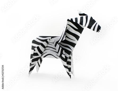 Canvas Prints Zebra Origami zebra