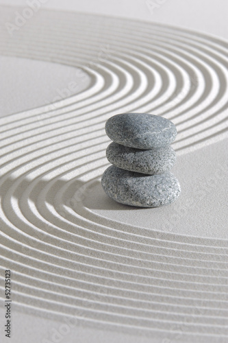 Foto op Plexiglas Stenen in het Zand Japan ZEN Garten