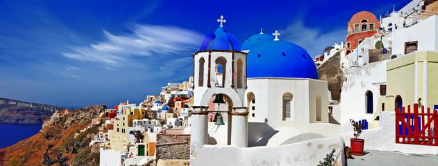 panorama of beautiful Oia village - Santorini,Greece