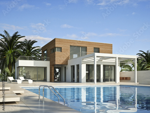 Canvastavla  Villa 2 mit Pool