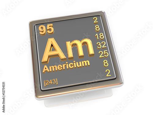 Photo Americium. Chemical element.